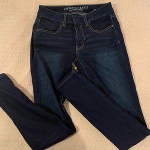 AE Super Super Stretch Dark Wash Jeans